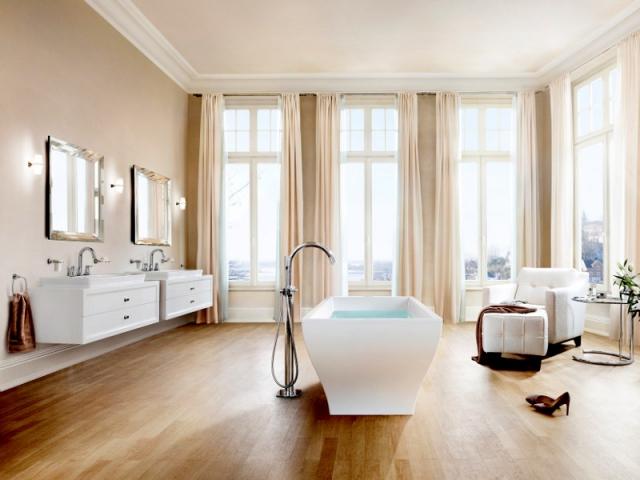 idées d'aménagements salle de bains : une baignoire en îlot - Salle De Bain Avec Baignoire Ilot