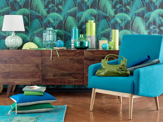 bleu canard total look dans toute la maison. Black Bedroom Furniture Sets. Home Design Ideas