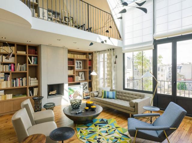 1 ancien atelier d 39 artiste transform en duplex moderne et lumineux. Black Bedroom Furniture Sets. Home Design Ideas