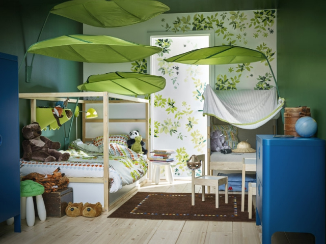Am nager une chambre d 39 enfant les styles tendance d crypt s - Decoration chambre bebe theme jungle ...