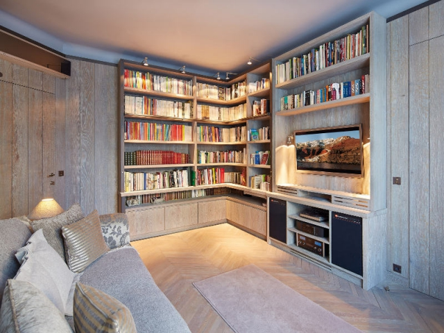 Am nagement int rieur une biblioth que d 39 b niste pour - Bibliotheque de salon ...
