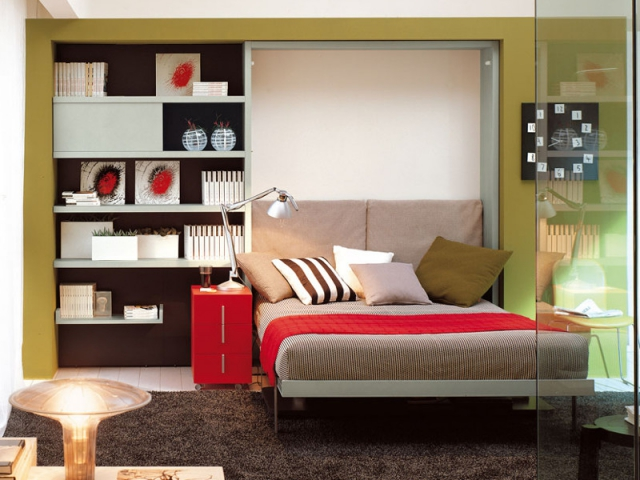 petits espaces comment dormir dans un studio. Black Bedroom Furniture Sets. Home Design Ideas