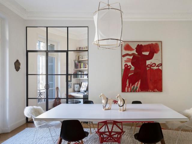 Une verri re industrielle pour cr er un coin bureau dans - Une solution innovante pour gagner de la place dans sa cuisine ...