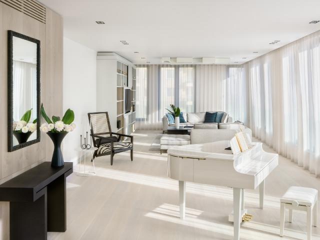 2 appartements r unis en un penthouse familial et lumineux. Black Bedroom Furniture Sets. Home Design Ideas