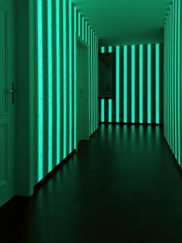 Le papier peint phosphorescent