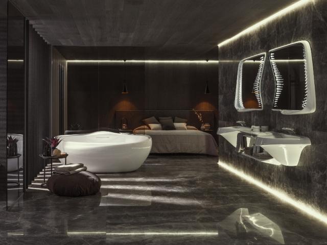 Une salle de bains organique
