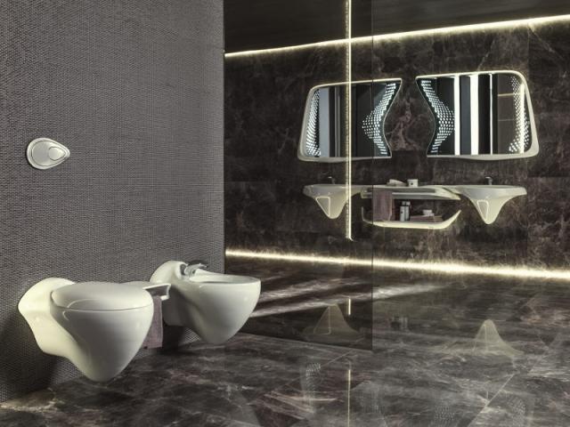 Une salle de bains organique par Zaha Hadid