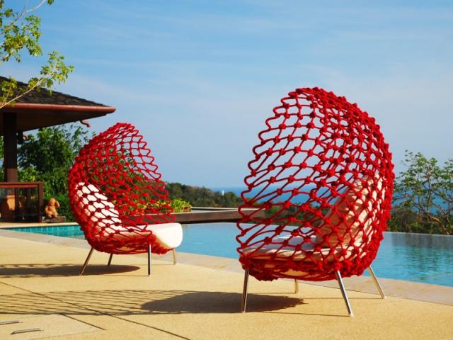 Une assise inspirée des filets de pêche