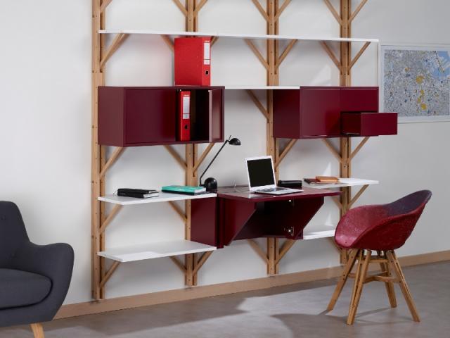 une bibliothèque/bureau