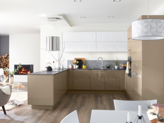 Surface texturée pour des placards de cuisine