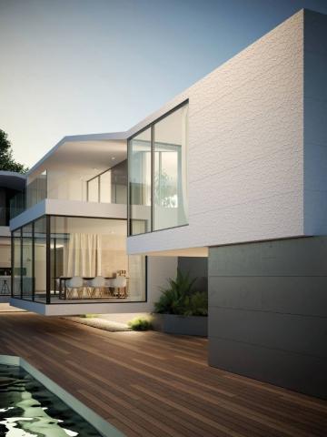 Surface texturée pour une façade de maison