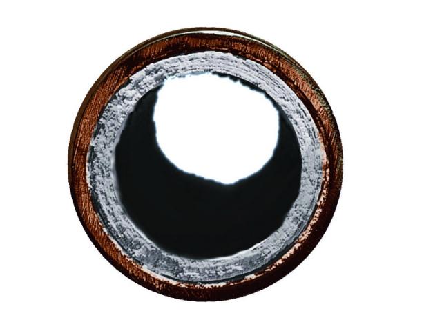 Du calcaire dans un conduit