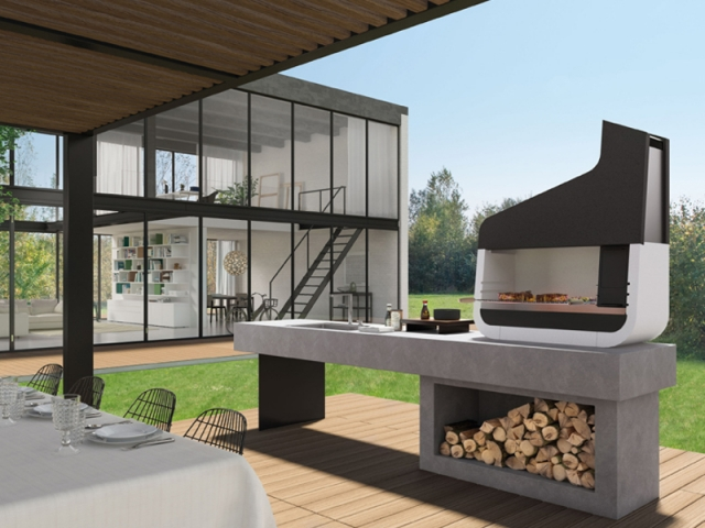 quand le barbecue devient un l ment incontournable du jardin. Black Bedroom Furniture Sets. Home Design Ideas