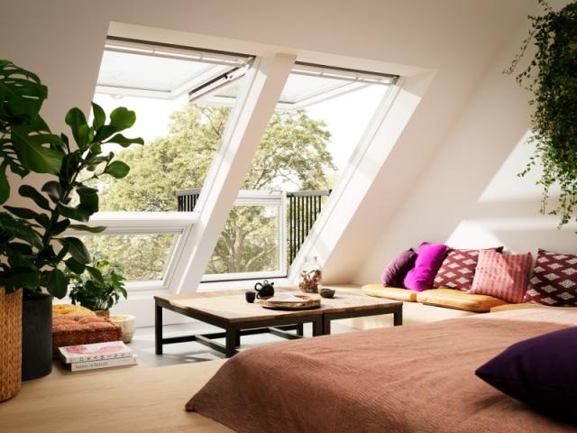 Les fenêtres balcons amènent lumière et espace
