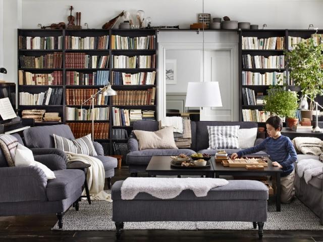 Les livres envahissent le salon