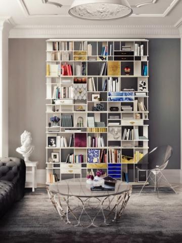 Une étagère graphique et design pour ses livres