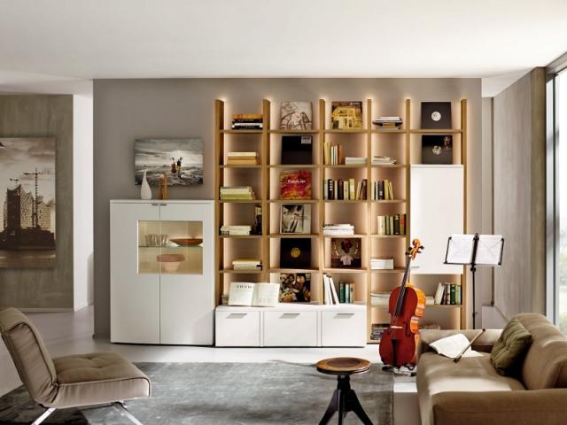 Une étagère lumineuse pour valoriser ses livres