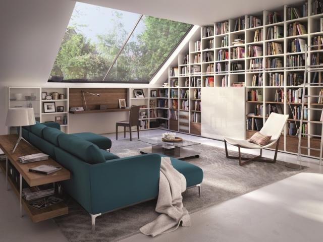 Un mur recouvert de livres pour un espace cosy