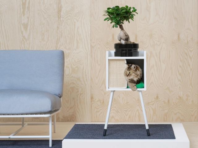 Lurvig Maison pour chat avec pieds et coussin, 55,89 €