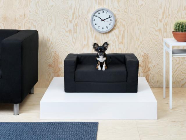 Lurvig Lit pour chien et chat inspiré du canapé Klippan, disponible en décembre 2017
