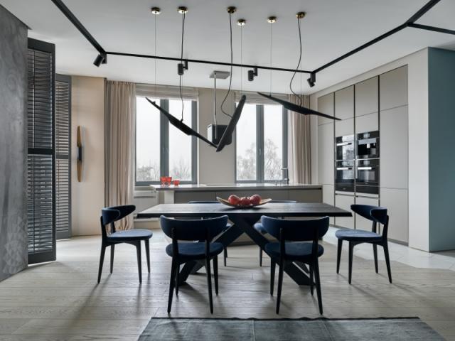 R nover un appartement en s 39 inspirant du bleu de la mer for Appartement original