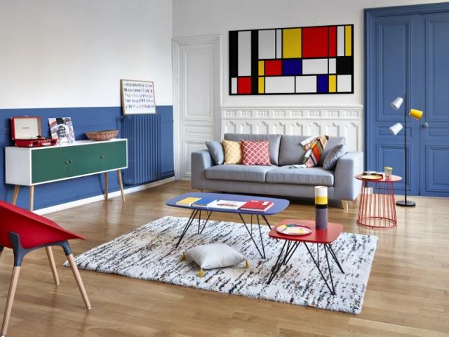 Un tapis épais pour un salon confortable