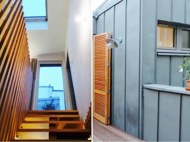 sur l vation bois et zinc au coeur de paris. Black Bedroom Furniture Sets. Home Design Ideas