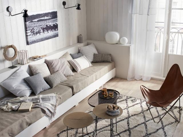 Un mur de soubassement pour créer un meuble d'angle