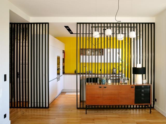 Une cuisine semi ouverte gr ce un claustra - Une solution innovante pour gagner de la place dans sa cuisine ...