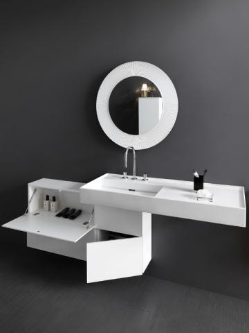 Un meuble de rangement design