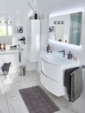 Un lavabo ajusté à la bonne hauteur