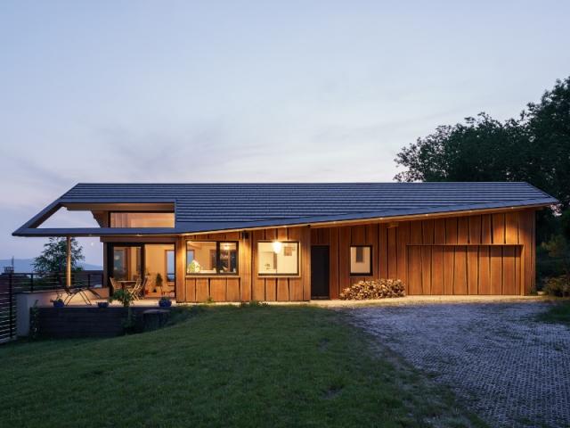 Exemple de toiture ajourée