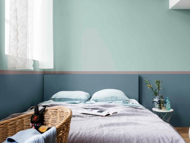 10 conseils pour r ussir la peinture de sa chambre - Peindre une chambre mansardee en 2 couleurs ...