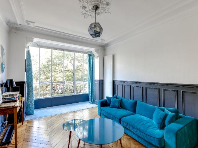 avant apr s el gance au masculin pour un haussmannien. Black Bedroom Furniture Sets. Home Design Ideas