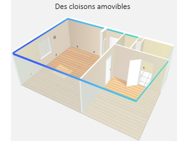 des logements 100 personnalisables gr ce des cloisons amovibles good banque. Black Bedroom Furniture Sets. Home Design Ideas