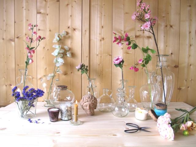Les vases en verre soufflé de La Soufflerie