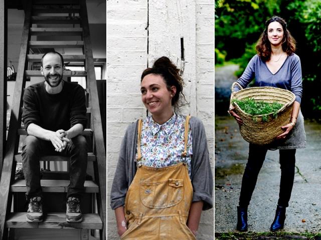 Les artisans-designers Maxime Perrolle, Laurette broll et Aurélia Wolff