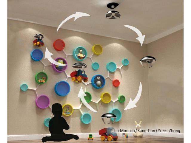 """Projet """"Cabi"""" : ranger la chambre d'enfant en s'amusant avec l'aide de drones"""