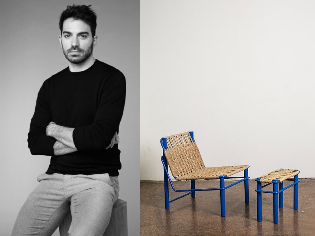 Carlo Massoud et son fauteuil Ray