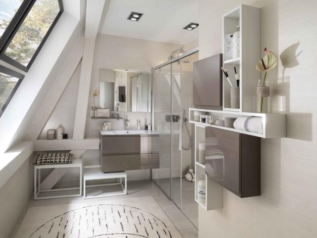 Am nager une salle de bains dans les combles 10 exemples - Salle de bain dans combles ...