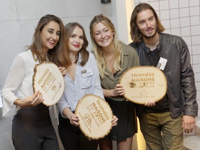Laura Capuano, Nolwen Praizelin, Justine Fournier et Romain Pierrot, lauréats des Trophées Maisons du Monde de la création durable 2018