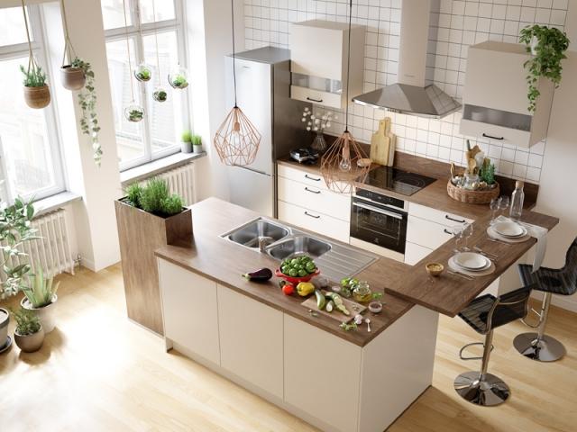 Le triangle d'activité dans une cuisine en U
