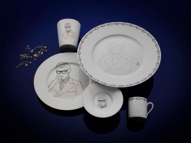 Chers Parisiens, Maison Fragile x Jean-Michel Tixier. Grande assiette : 68 €, petite assiette : 58 €, tasse à café : 48 €, timbale : 50 €