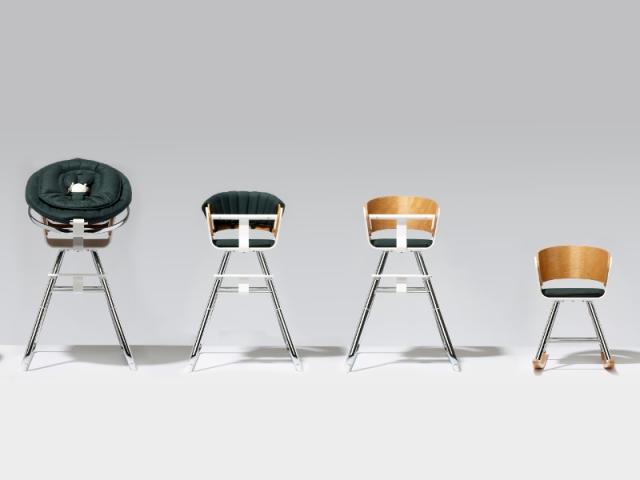 Chaise MiChair dans 4 de ses 6 formes, à partir de 337 €