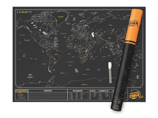 Scratch Map Chalk, en vente chez The Cool Republic.com, 35 €