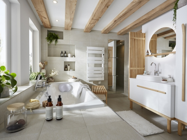 Salle de bains d couvrez les tendances 2019 - Faience salle de bain zen ...