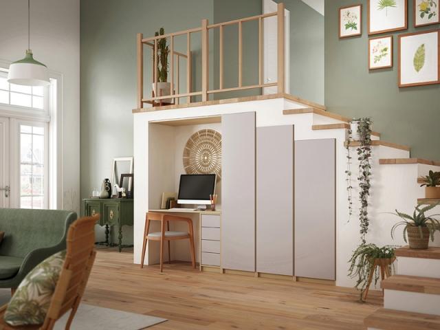 15 id es pour am nager l 39 espace sous l 39 escalier. Black Bedroom Furniture Sets. Home Design Ideas