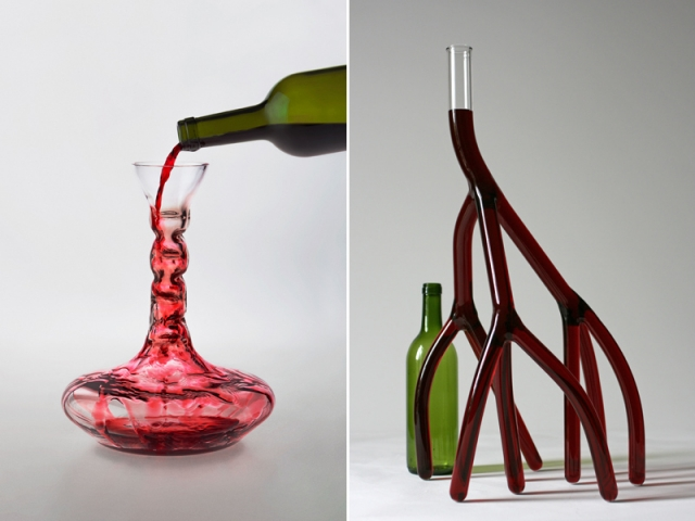 Cross filter, Kristina Gläsener, 2013, Meisenthal / Carafe n°8, Etienne Meneau, 2011