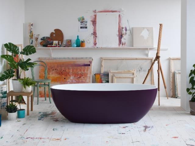 Violet aubergine pour habiller une baignoire