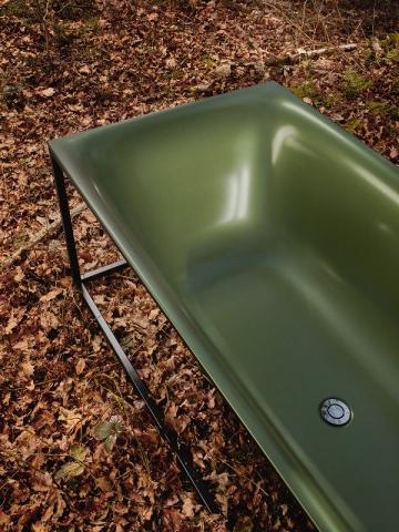Une baignoire Lux Shape coloris Forest